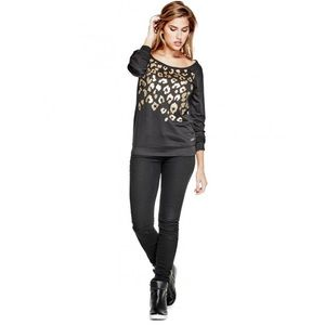 GUESS Fatin Off Shoulder Pullover Top